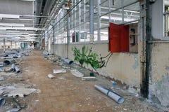 Alte manufactore Halle Stockbild