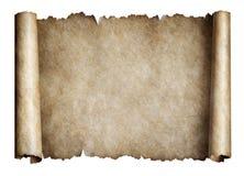 Alte manusript Rolle oder Pergament lizenzfreie stockbilder