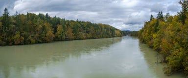 Alte maree del fiume Sava Immagini Stock