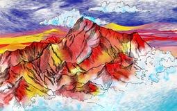 Alte Mars-Landschaft Lizenzfreie Stockfotos