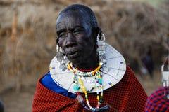 Alte Masaifrauen lizenzfreies stockbild