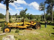 Alte Maschine in Feuerland lizenzfreie stockbilder