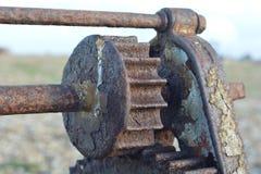 Alte Maschineriezähne stockfoto