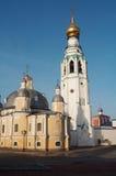 Alte Maurerarbeitkirche Stockfoto