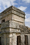 Alte Mayaruinen bei Tulum Stockbild
