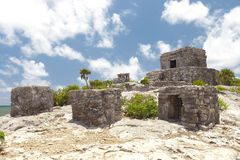 Alte Mayaruinen in Tulum, Mexiko Lizenzfreie Stockfotos