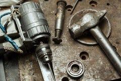 Alte Mechanikerwerkzeuge Lizenzfreies Stockfoto