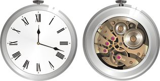 Alte mechanische Uhr Lizenzfreies Stockbild