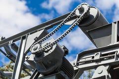 Alte Mechanismusreparatur und -bau Stockfoto