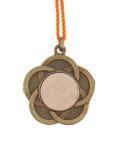Alte Medaille lokalisiert Lizenzfreie Stockbilder