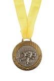 Alte Medaille lokalisiert Stockbild
