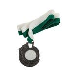 Alte Medaille lokalisiert Stockbilder