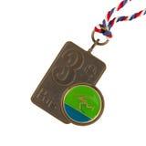 Alte Medaille lokalisiert Lizenzfreie Stockfotos