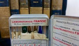 Alte Medizin und medizinische Bücher Stockfoto
