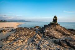 Alte Meerjungfraustatuen Stockfoto