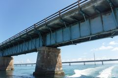 Alte 7-Meilen-Brückenflorida-Schlüssel Lizenzfreies Stockfoto