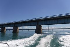 Alte 7-Meilen-Brückenflorida-Schlüssel Lizenzfreie Stockbilder
