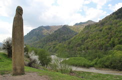 Alte Menhirs Jahrhundert 10 Arkhyz Lizenzfreie Stockfotos