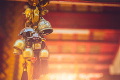 Alte Messing-Bell in Thailand-Tempel Lizenzfreies Stockbild