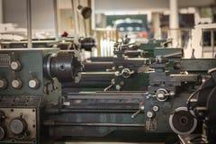 Alte Metalldrehbankmaschine Lizenzfreie Stockfotos