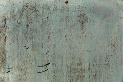 Alte Metalloberfläche gemalt mit weißer Farbe Stockbilder