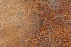 Alte Metallorange malte Hintergrund mit Streifen des Rosts Lizenzfreies Stockfoto