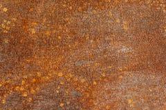 Alte Metallorange malte Hintergrund mit Streifen des Rosts Lizenzfreie Stockfotografie