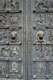 Alte Metalltür von Bremen-Kathedrale, Deutschland Lizenzfreies Stockbild
