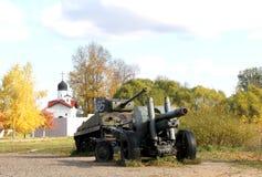 Alte Militärausrüstung Freiluftmuseum in Prerov nad Labem Stockfotografie