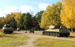 Alte Militärausrüstung Freiluftmuseum in Prerov nad Labem Lizenzfreie Stockfotografie