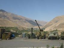 Alte militärische Ausrüstung in Panjshir-Tal Stockfotos