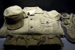 Alte Militäruniform vom Koreakrieg lizenzfreies stockfoto