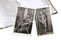 Alte Militärfotos Lizenzfreies Stockbild