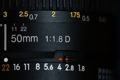 Alte 50 Millimeter-Linse Stockfoto