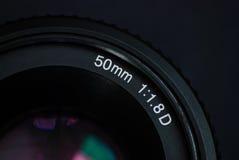 Alte 50 Millimeter-Linse Stockfotos