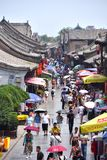 Alte Ming-Qing Street an alter Stadt Pingyao, China stockfoto