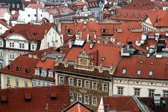 Alte mit Ziegeln gedeckte Dächer Lizenzfreies Stockbild