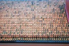 Alte mit Ziegeln gedeckte Dachspitze Lizenzfreies Stockbild