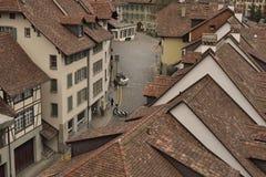 Alte mit Ziegeln gedeckte Häuser Lizenzfreie Stockbilder