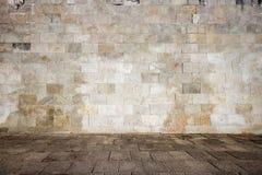 Alte mit Ziegeln gedeckte Wand Lizenzfreie Stockbilder