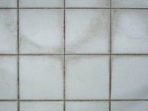 Alte mit Ziegeln gedeckte weiße Wandbeschaffenheit Stockfotografie