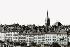 Alte Mitte der Bern-Stadtbildansicht Stockfoto