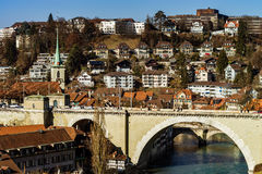 Alte Mitte der Bern-Stadtbildansicht Stockfotografie