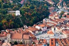 Alte Mitte der Brasov Stadt Stockfotografie