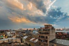 Alte Mitte von Bukarest lizenzfreies stockbild