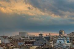 Alte Mitte von Bukarest lizenzfreie stockfotografie
