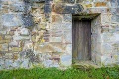 Alte, mittelalterliche Abteiwand Stockfotografie