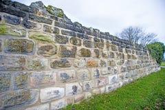Alte, mittelalterliche Abteiwand Stockbild