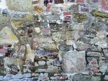 Alte, mittelalterliche Abteiwand Stockbilder