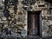 Alte mittelalterliche Abteiwand mit Tor Lizenzfreie Stockfotografie